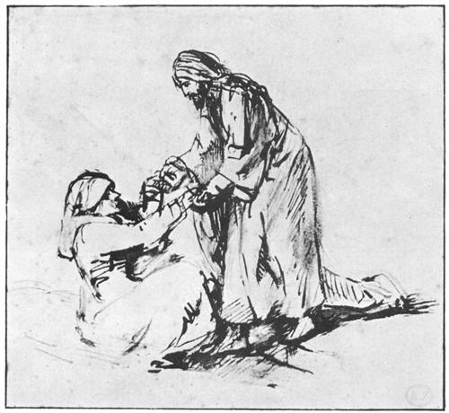 Rembrandt: the Healing of Peter's Mother in Law