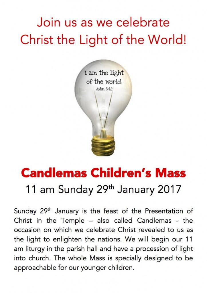 Children's Mass for Candlemas