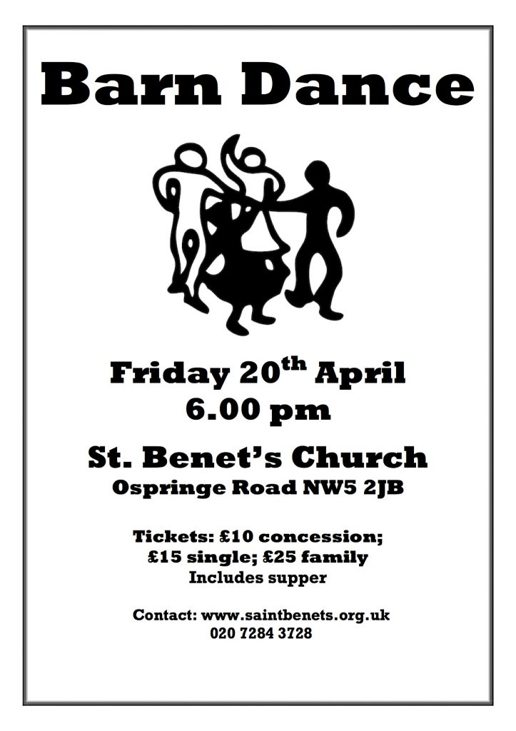 Barn Dance – Friday 20th April 2018