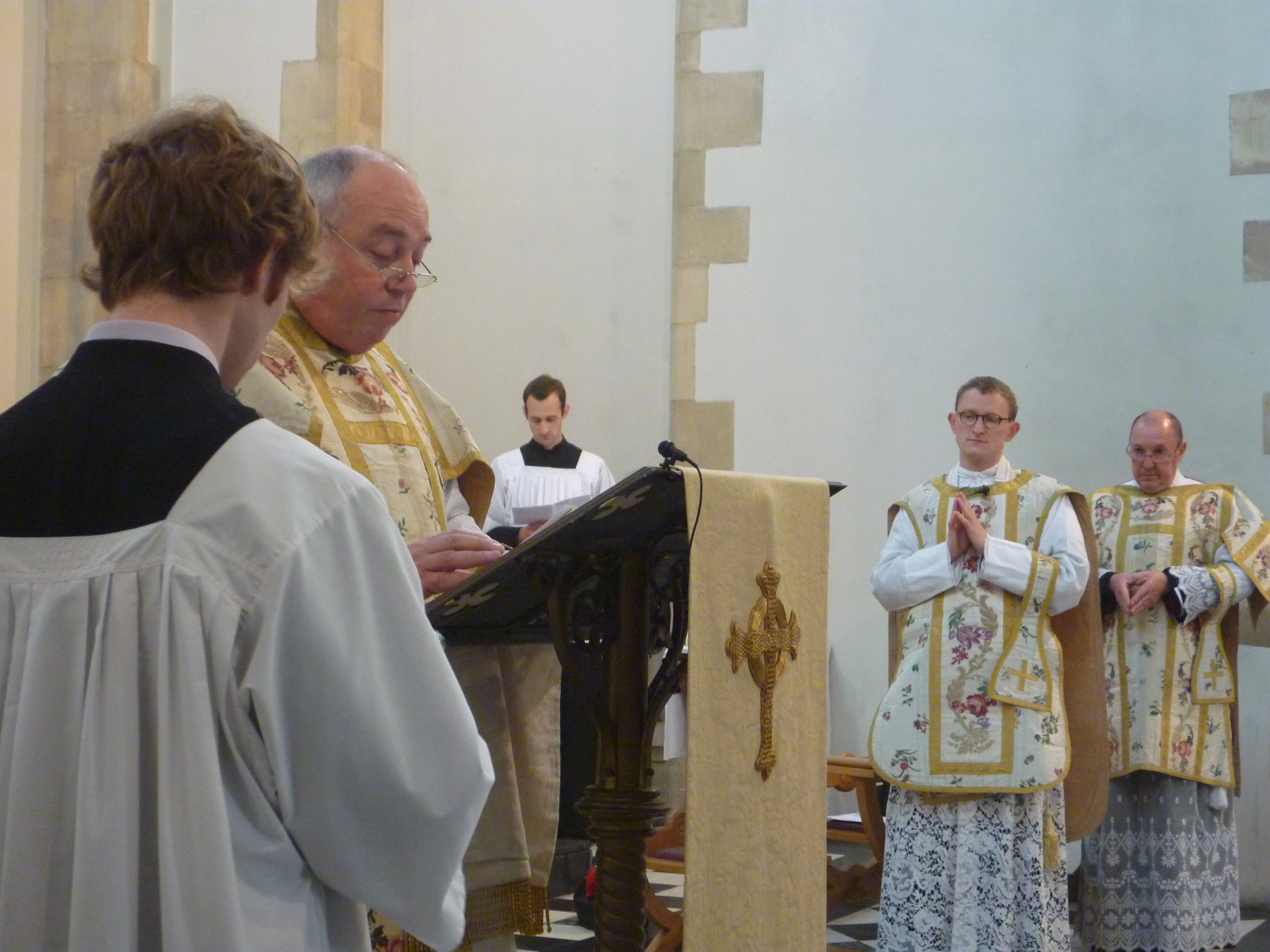Here are Euan Grant and Nick Archer serving at the liturgy.