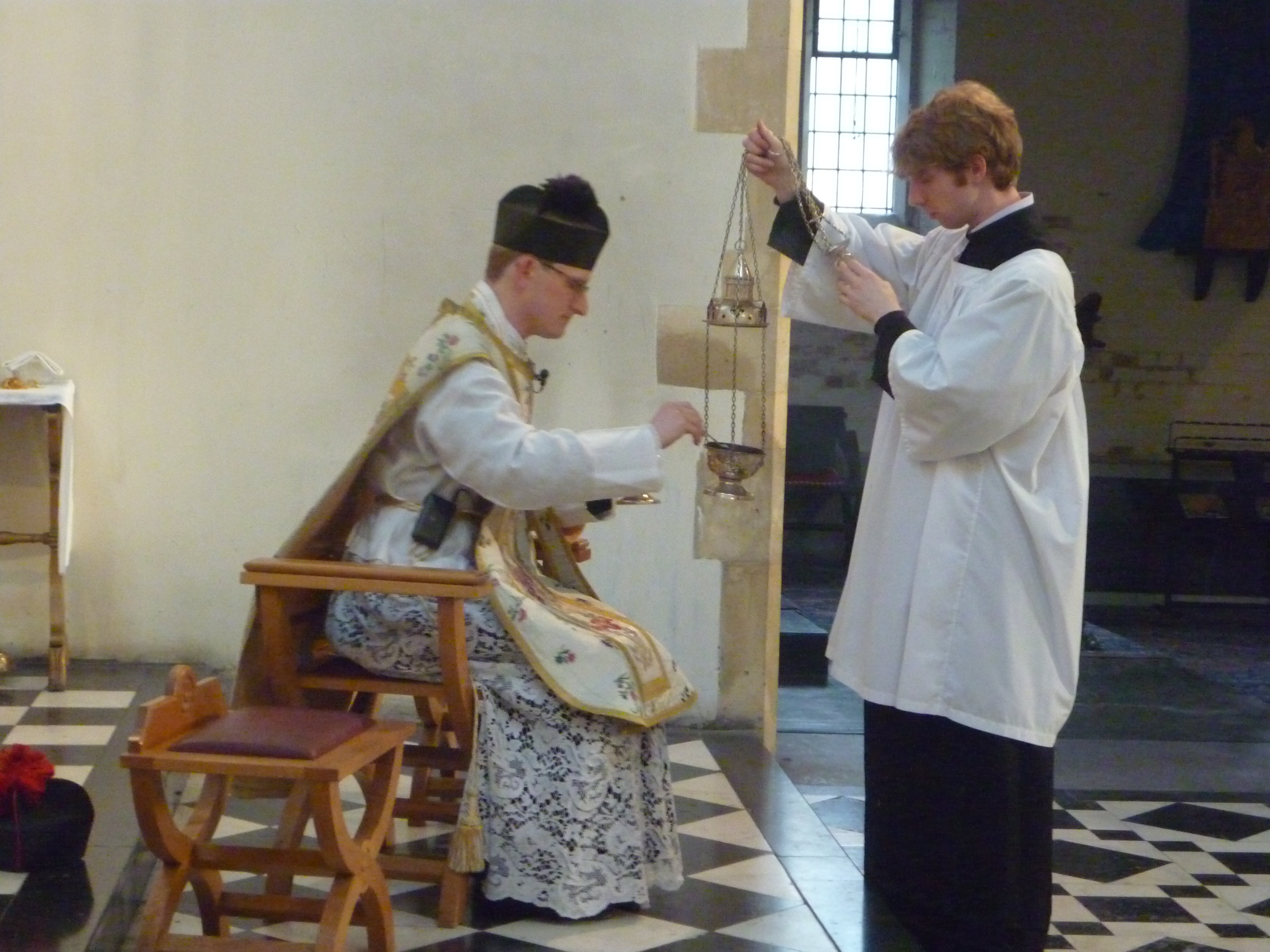 Here is Euan Grant, serving at the liturgy.